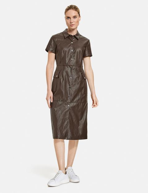 taifun - Kleid in Leder-Optik Braun 36/S