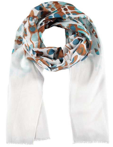 samoon - Leichter Schal aus Baumwoll-Voile Blau OneSize
