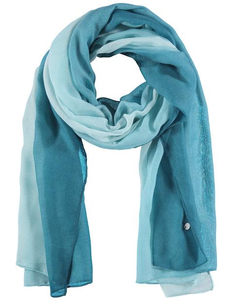 samoon - Leichter Schal mit Farbverlauf Blau OneSize