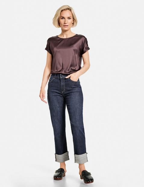 gerry weber - Jeans mit Turn Up Saum Blau 40/M