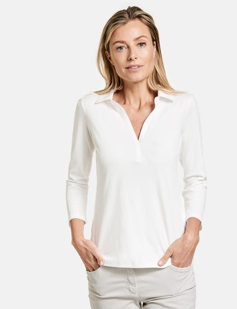 gerry weber - 3/4 Arm Polo-Shirt Weiss 42/M