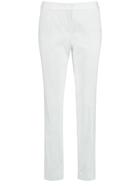 Hose aus Baumwoll-Stretch Slim Peg Leg