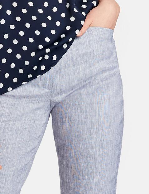 7/8 Hose aus Leinen-Mix Slim Peg Leg