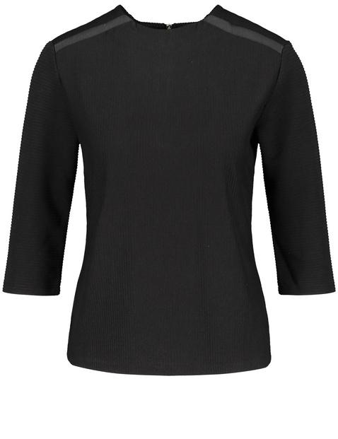 3/4 Arm Shirt mit Ripp-Struktur