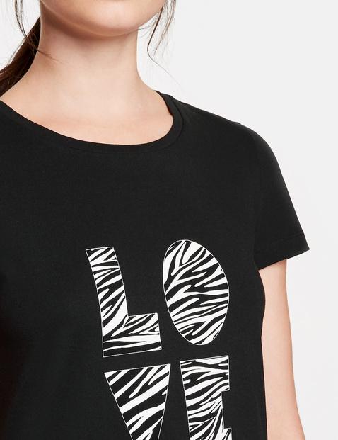 Baumwoll-T-Shirt mit Wording