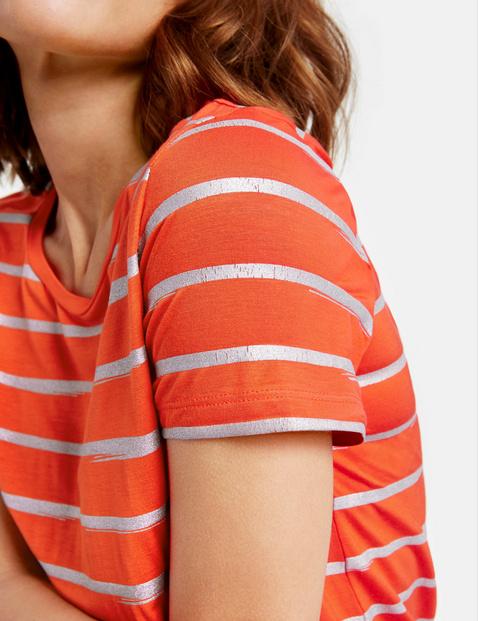 Shirt mit Glanz-Streifen