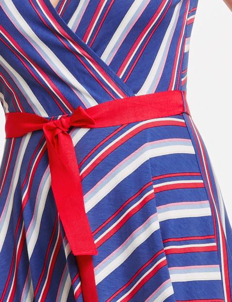 Jerseykleid mit Diagonal-Streifen