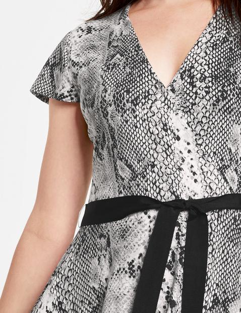 Jerseykleid mit Schlangen-Print