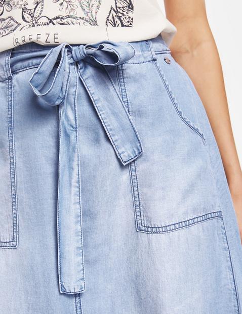Midirock im Jeans-Look
