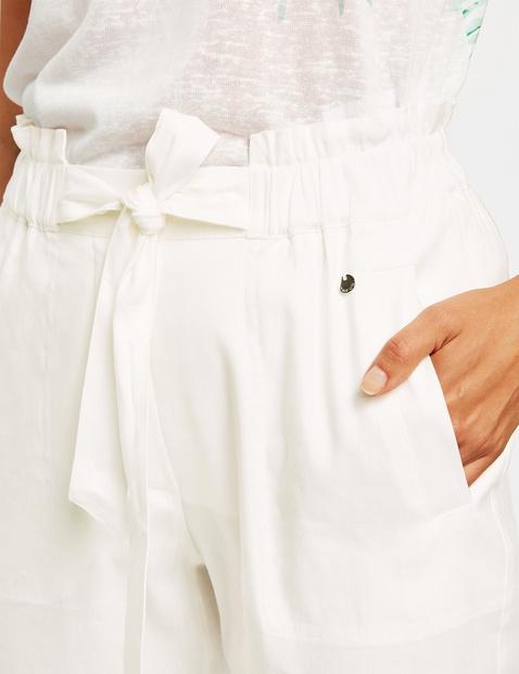 Leinenhose mit Paperbag-Bund Lounge Pants High