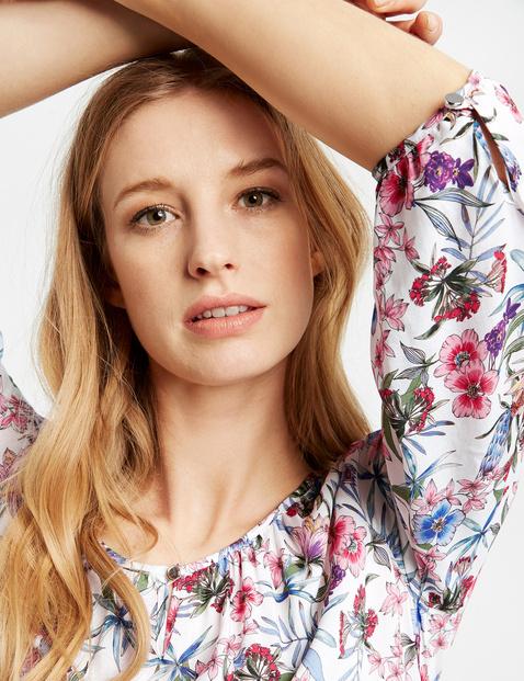 3/4 Arm Bluse mit Blumen-Print