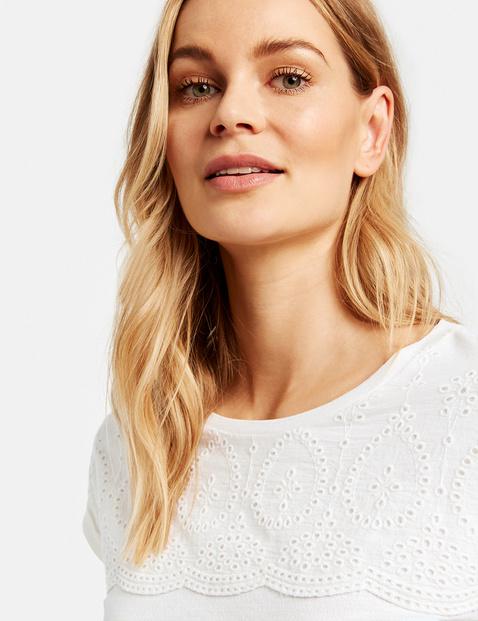 T-Shirt mit Baumwollspitze