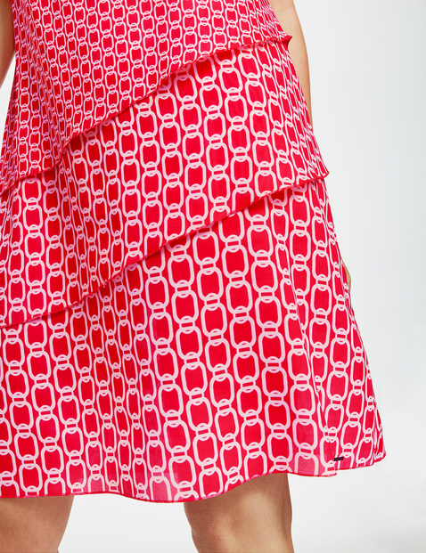 Ärmelloses Kleid mit Volants