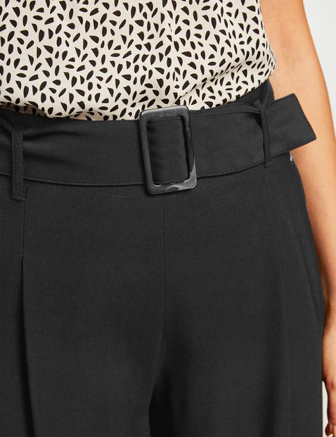 Culotte mit Paperbag-Bund Wide Leg High