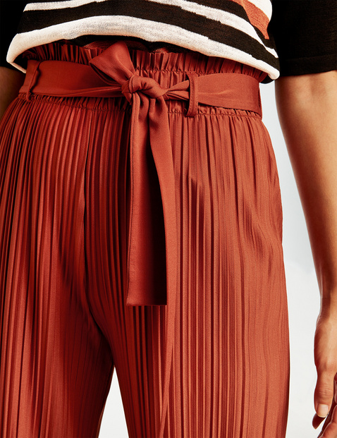 Culotte mit Plisséefalten