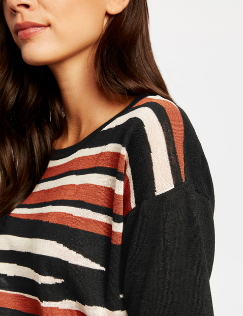 Oversized-Pullover mit 3/4 Arm