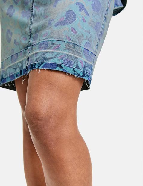 Dżinsowa spódnica z nadrukiem