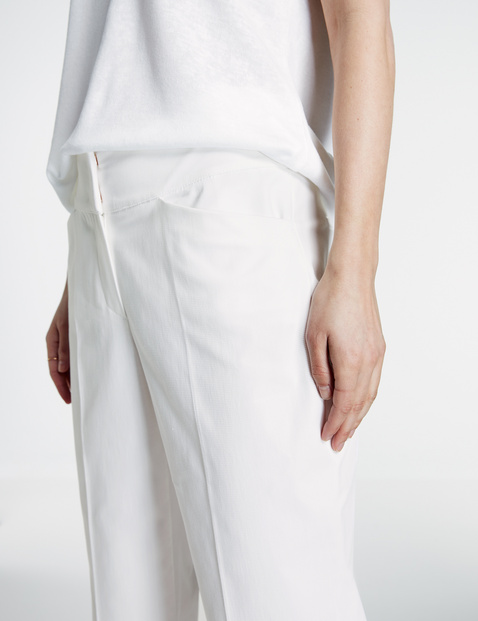 7/8-length straight high-rise trousers