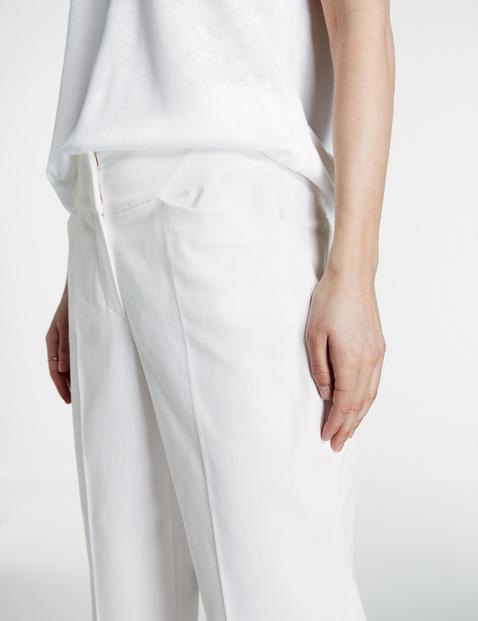 Spodnie straight z wysokim stanem o długości 7/8