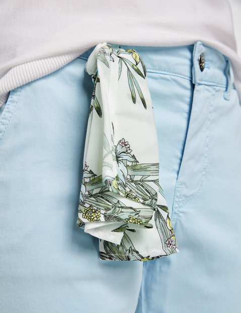 TS chinos with decorative scarf