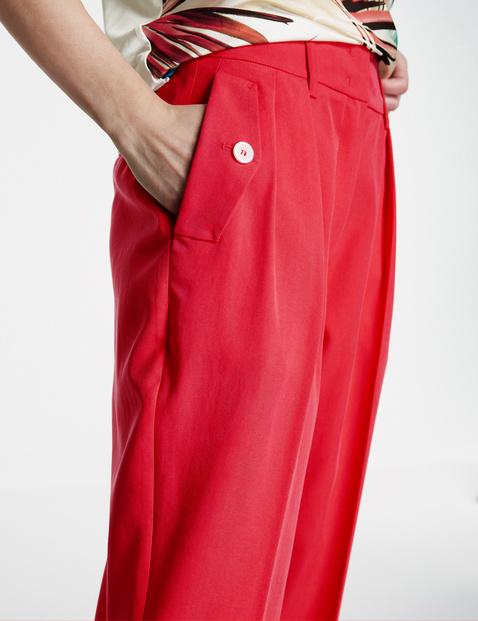 3/4-length straight waist-pleat trousers