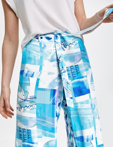 Printed palazzo trousers, EcoVero