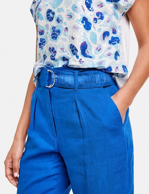 7/8-length linen trousers