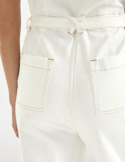 Jeans Overall mit Kontraststepp