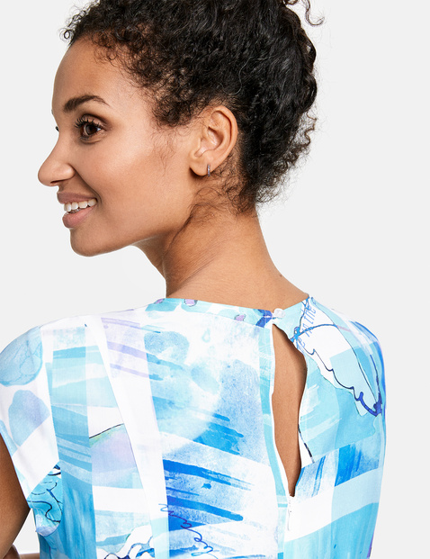 Soepele jumpsuit met print EcoVero