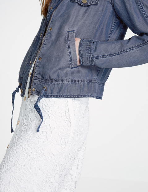 Soft denim jacket in a utility style