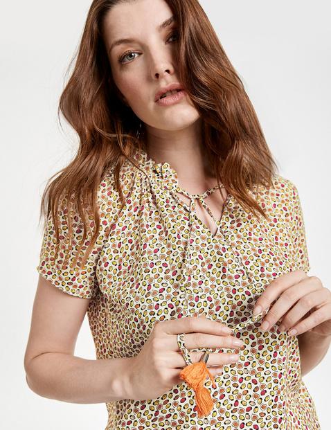 Bluzka z krótkim rękawem z frędzlami EcoVero