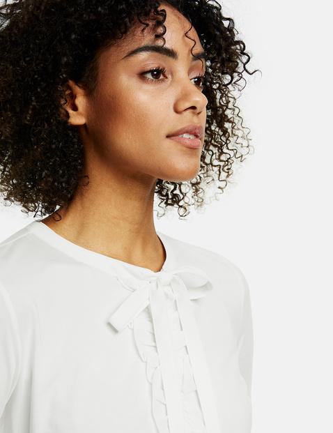 Bluzka koszulowa z falbanką