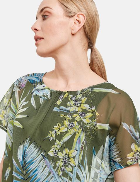 Bluzkowy top 2 w 1 z kwiatowym nadrukiem