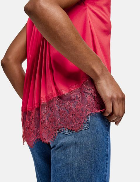 Koszulka z plisowanym tyłem