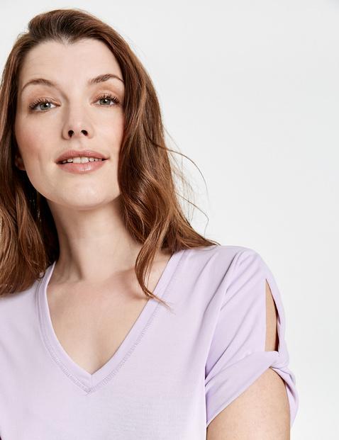 Koszulka basic z wyrafinowanymi krótkimi rękawami