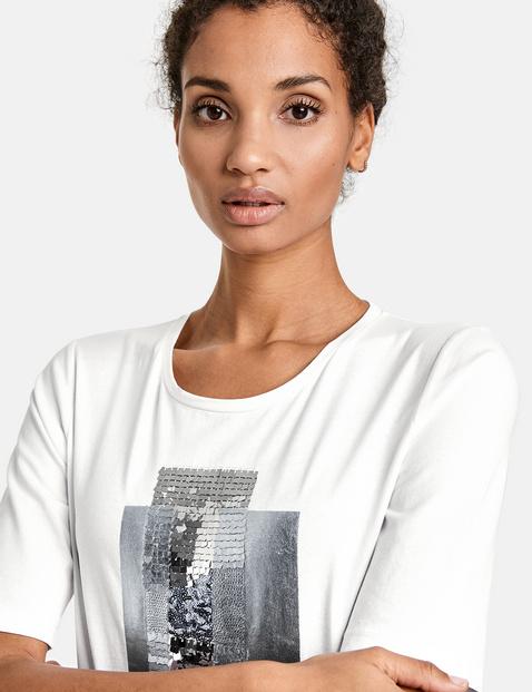 T-shirt met pailletjes van GOTS-gecertificeerd biologisch katoen