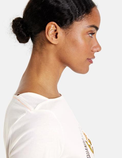 T-shirt met citroenprint GOTS