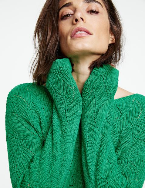 Sweter w dzianinowy wzór