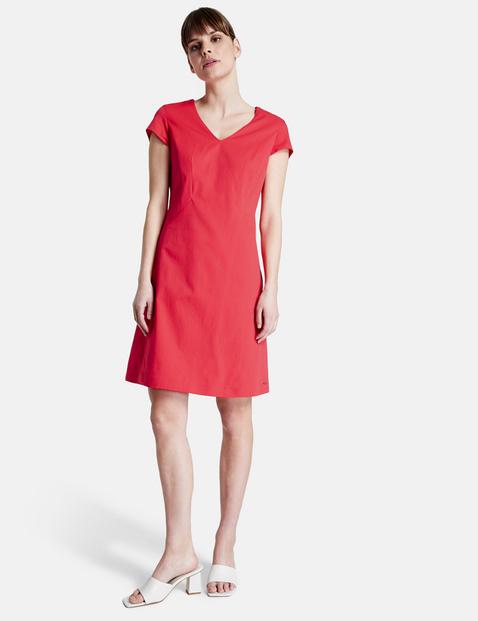 Kleid Mit V Ausschnitt In Rot Gerry Weber