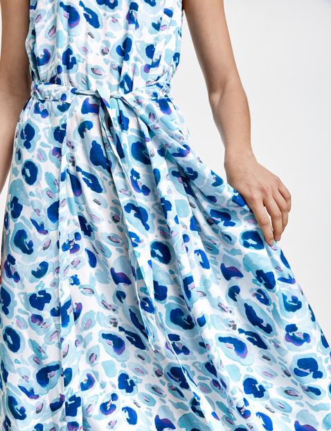 Sukienka midi z wyrafinowaną spódnicą, EcoVero