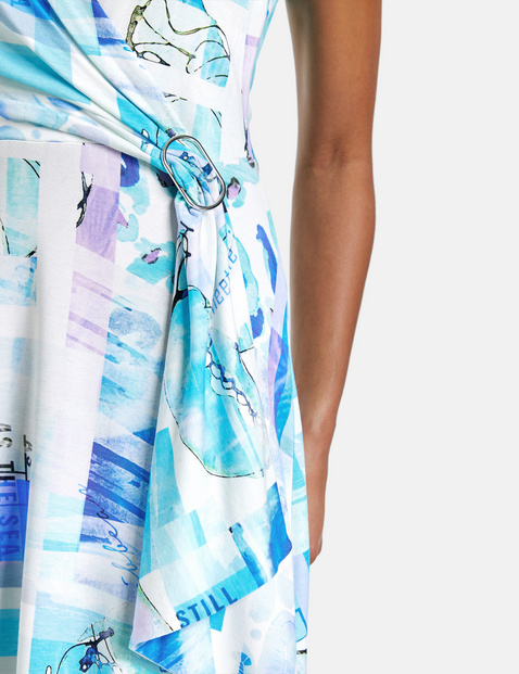 Koszulowa sukienka z kopertą, EcoVero