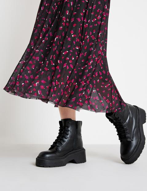 Soft mesh midi skirt