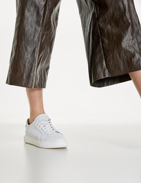Culottes, faux leather, wide leg, high waist