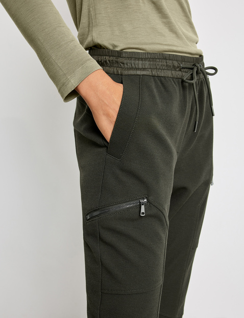 Lounge trousers with zip pockets