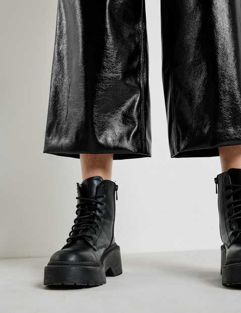 Patent-look culottes, Wide Leg High