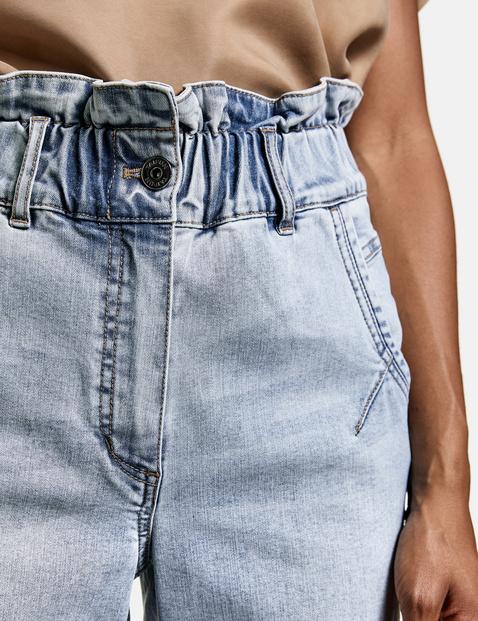 High Waist Jeans mit Paperbag Bund
