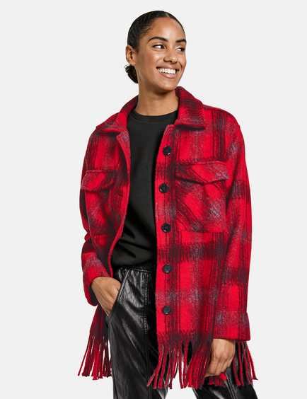 Set With A Check Pattern In Red, Red Check Winter Coat