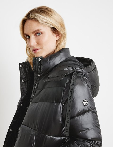Shiny quilted jacket
