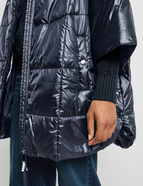Casual quilted jacket with 3/4-length sleeves