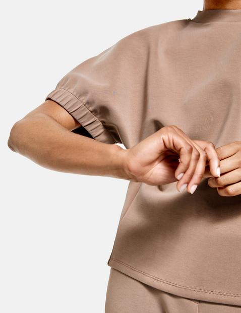 Trendy shirt met wijde korte mouwen